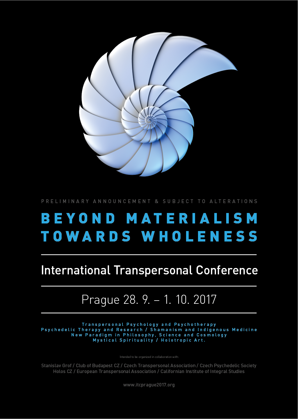 European Transpersonal Conference in Prague - from September 27 till October 1, 2017.
